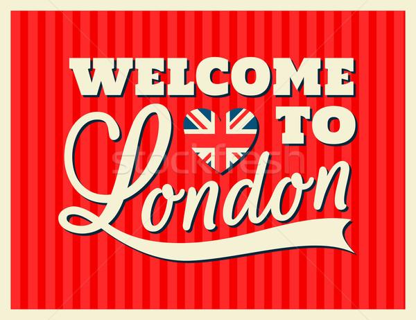 Londyn kartkę z życzeniami retro projektu miłości Zdjęcia stock © ivaleksa