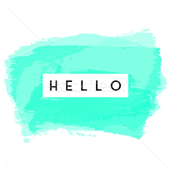 Hello Greeting Card Design Stock photo © ivaleksa