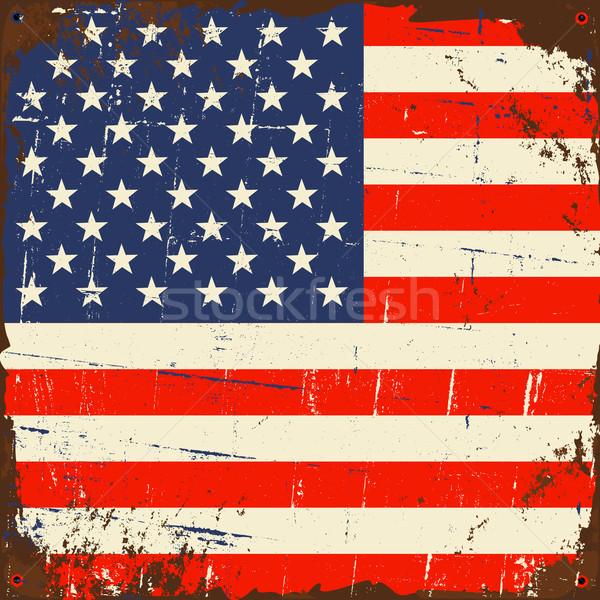 Vintage US Flag Stock photo © ivaleksa