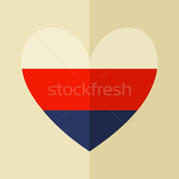 Russian Flag Icon Stock photo © ivaleksa