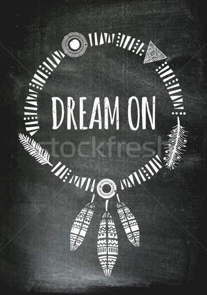 Indian Dream Catcher Poster Design Stock photo © ivaleksa