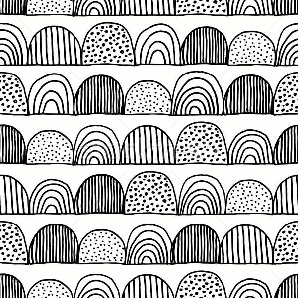 Hand Drawn Seamless Pattern Stock photo © ivaleksa