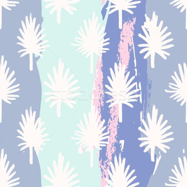Stock photo: Palm Leaves Seamless Pattern