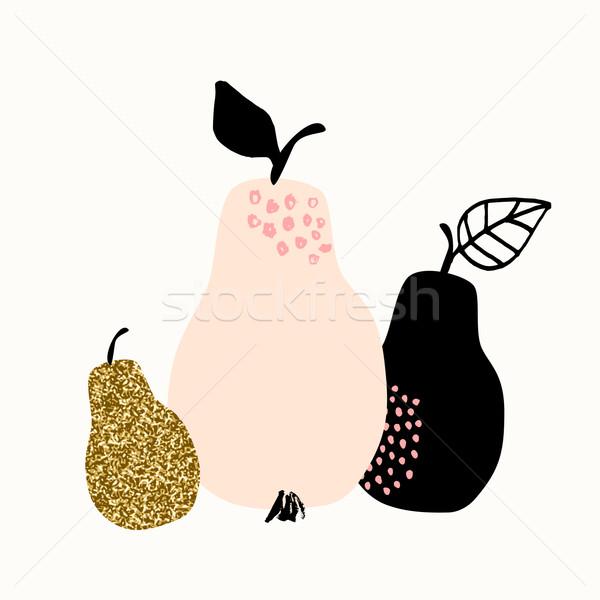 果物 コレクション 実例 3  梨 パステル ストックフォト © ivaleksa