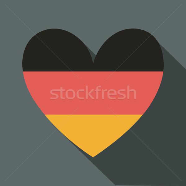 German Flag Icon Stock photo © ivaleksa