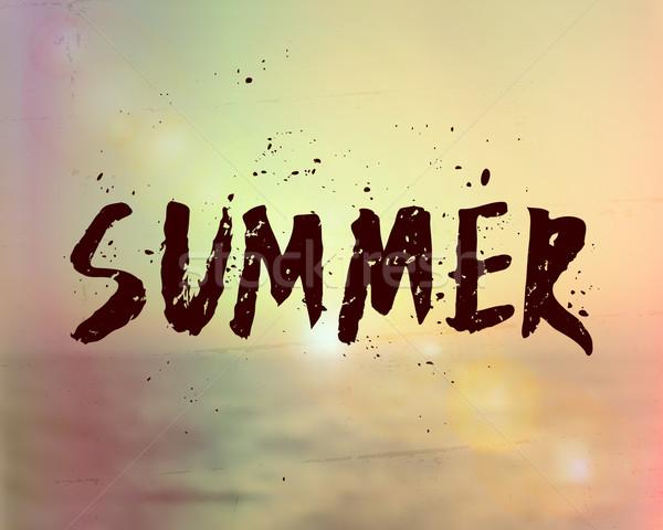 Summer Hand Lettered Design Stock photo © ivaleksa
