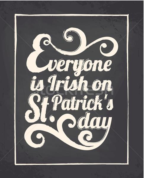 Chalkboard St. Patrick's Day Design Stock photo © ivaleksa
