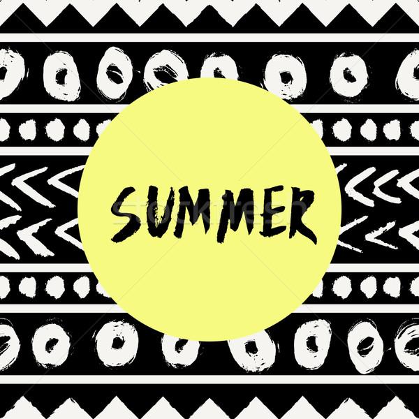 Summer Tribal Design Stock photo © ivaleksa