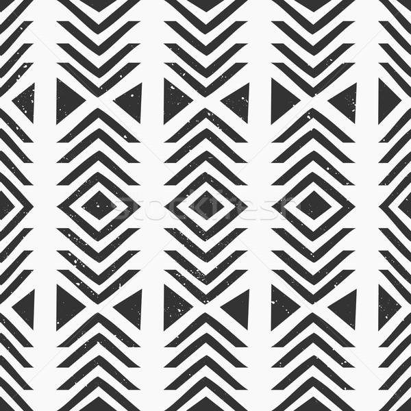 Streszczenie geometryczny wzór geometryczny czarno białe tekstury Zdjęcia stock © ivaleksa