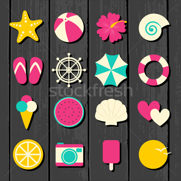 Stock photo: Summer Icons Collection
