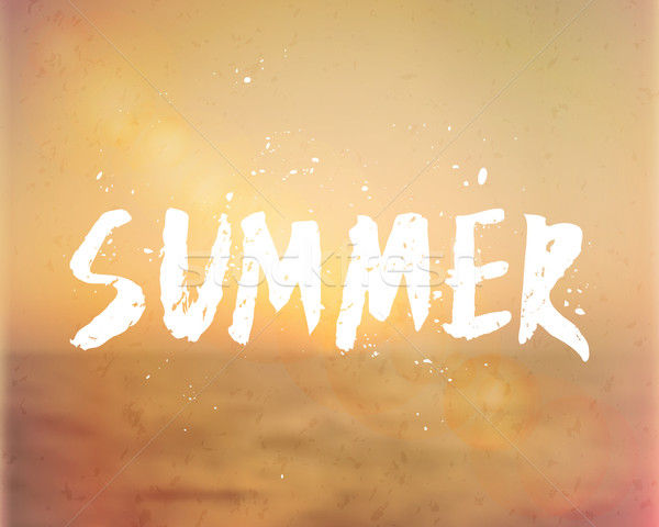 Summer Hand Lettered Design Stock photo © ivaleksa