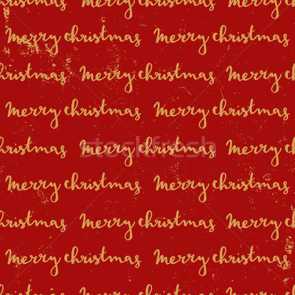 Merry Christmas Seamless Pattern Stock photo © ivaleksa