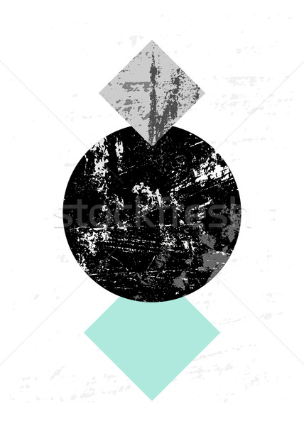 抽象的な 幾何学的な 黒 グレー ストックフォト © ivaleksa