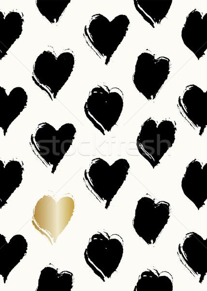 Saint valentin carte cute modernes carte de vœux modèle Photo stock © ivaleksa