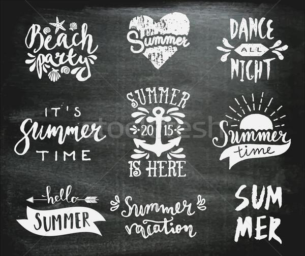 黒板 夏 デザイン セット スタイル ストックフォト © ivaleksa
