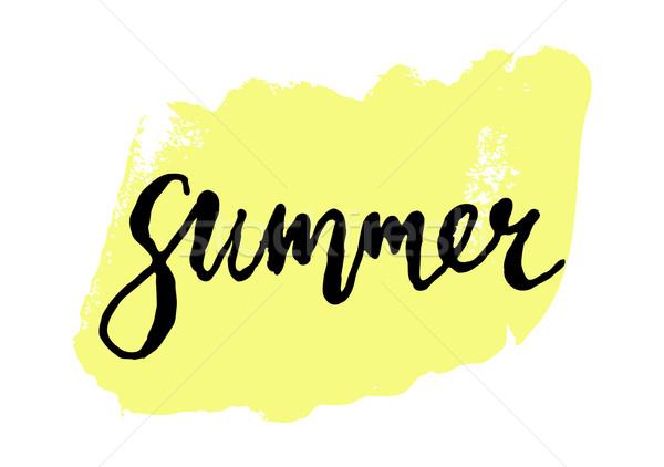 Summer Poster Design Stock photo © ivaleksa