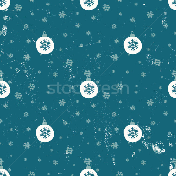 Christmas Baubles Seamless Pattern Stock photo © ivaleksa