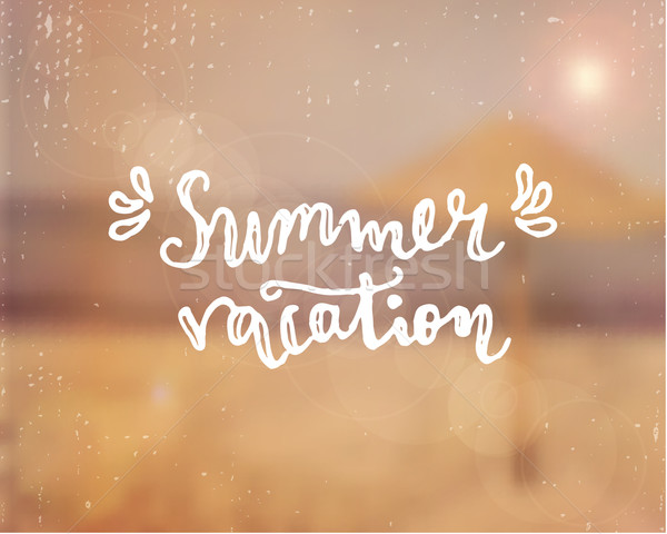 Summer Vacation Hand Lettered Design Stock photo © ivaleksa
