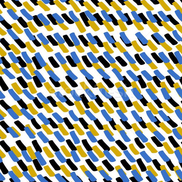 Stock photo: Hand Drawn Lines Pattern