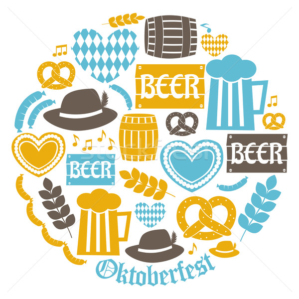 Oktoberfest Icons Collection Stock photo © ivaleksa