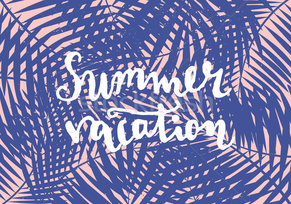 Typographic Summer Design Stock photo © ivaleksa
