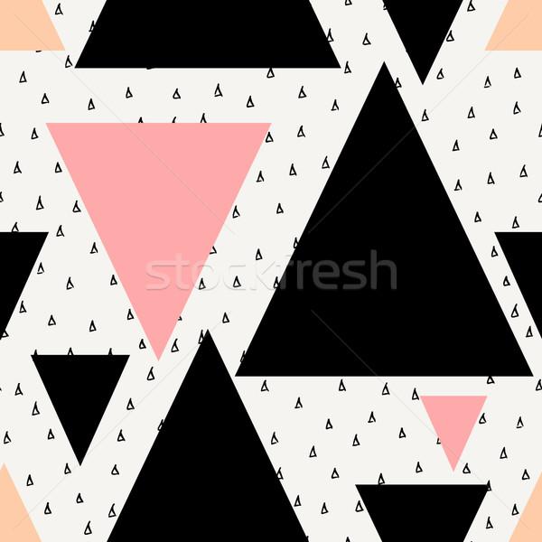 аннотация геометрическим рисунком геометрический бесшовный повторять шаблон Сток-фото © ivaleksa