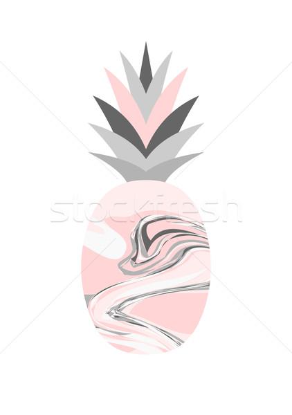 Marble Texture Pineapple Design Stock photo © ivaleksa