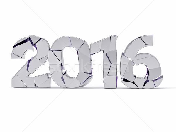 3D isolé 2016 détruit terminé année Photo stock © IvanC7