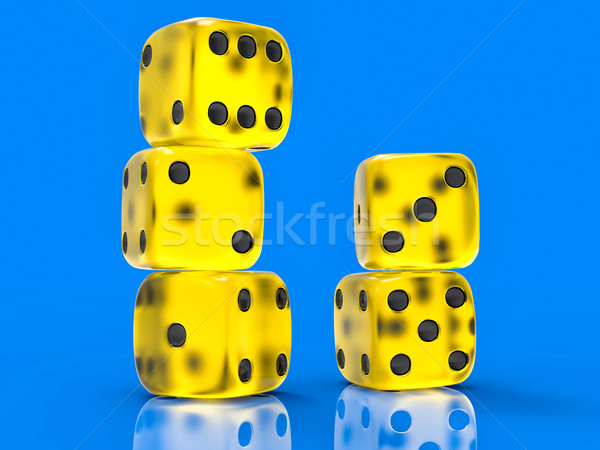 3D Isolated Dices Group Stock photo © IvanC7