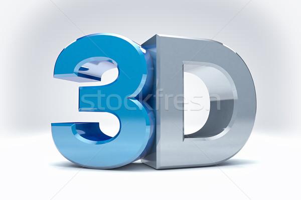 3D icône numérique film technologie isolé Photo stock © IvanC7