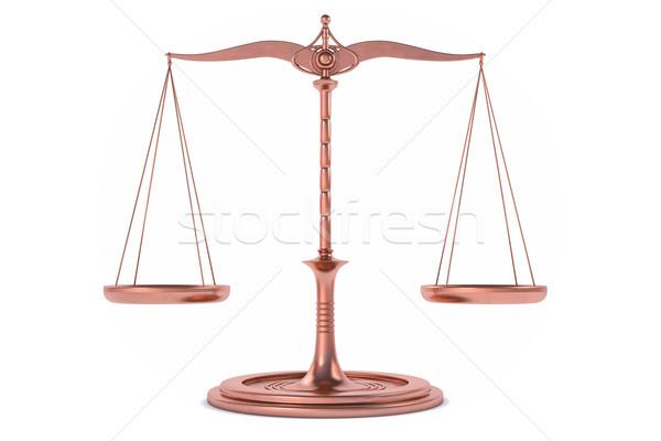 3D isolé équilibre échelle mesure justice Photo stock © IvanC7