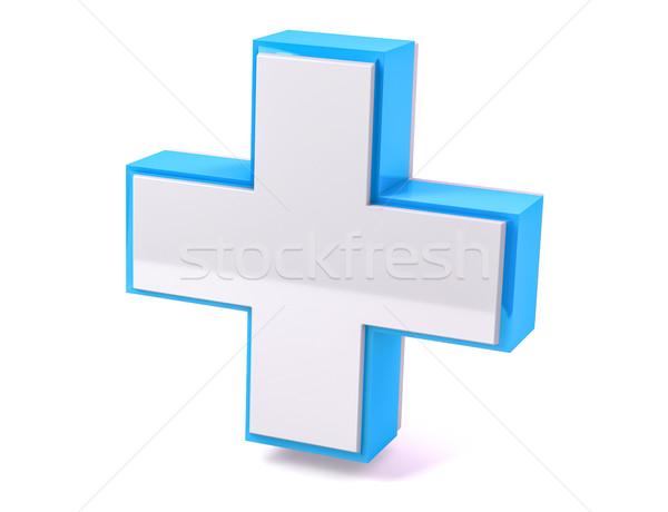 3D isolé médicaux aide croix Photo stock © IvanC7