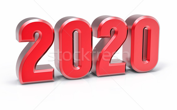 3D Isolated Red 2020 Year Stock photo © IvanC7