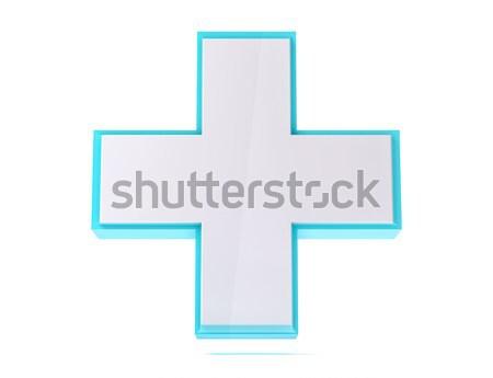 3D odizolowany medycznych pomoc krzyż oddać Zdjęcia stock © IvanC7
