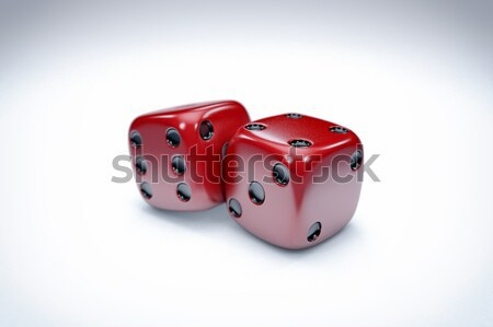 Casino dés 3D illustration fond boîte Photo stock © IvanC7