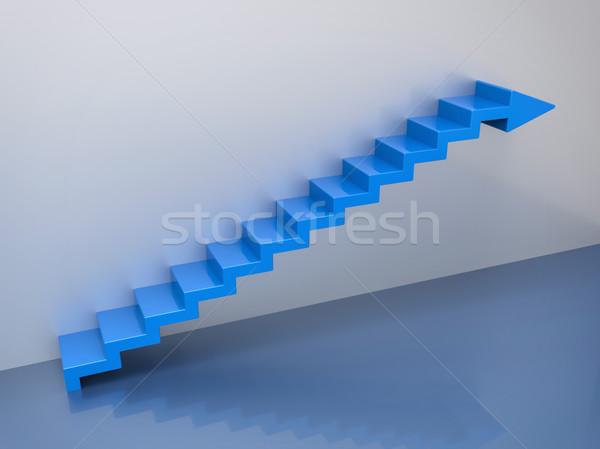 Isolé 3D escaliers flèche croissance amélioration Photo stock © IvanC7
