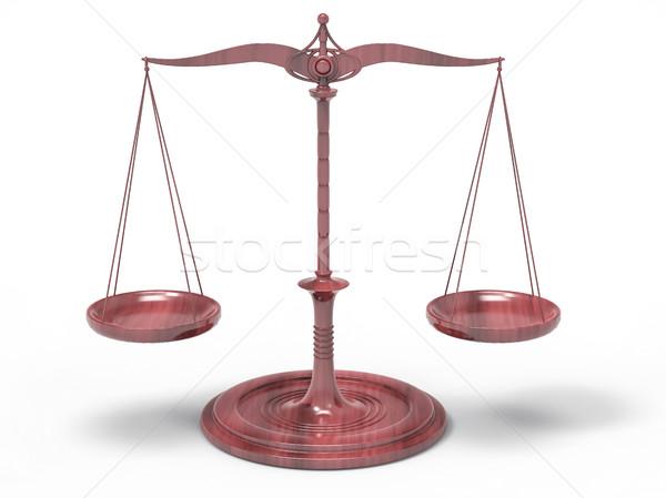 Poids échelle 3D équilibre isolé fond Photo stock © IvanC7