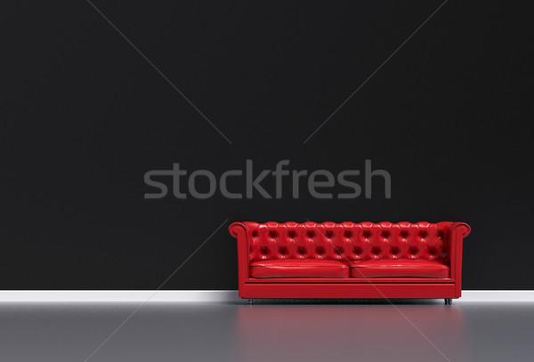 3D salon illustration modernes chambre maison Photo stock © IvanC7