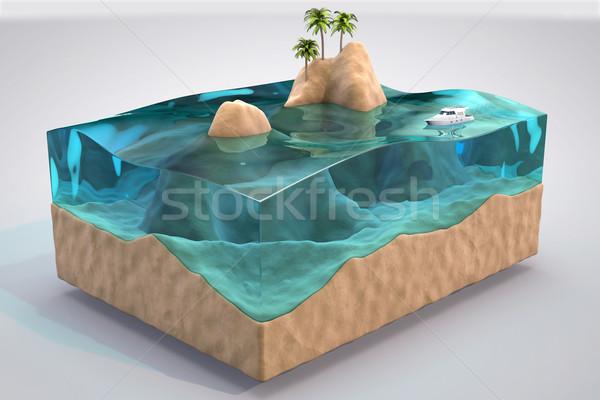 3D odizolowany tropikalnych akwarium grzech wody Zdjęcia stock © IvanC7