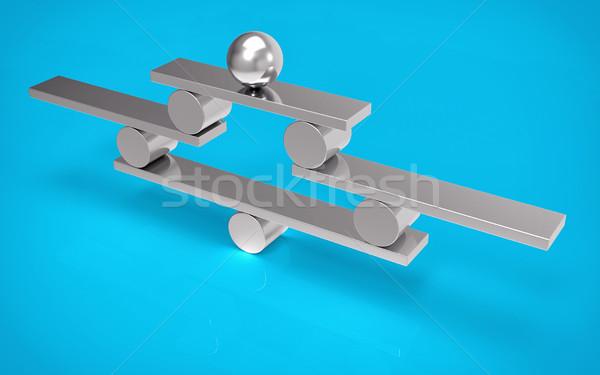 Isolé 3D équilibre métallique argent structure Photo stock © IvanC7