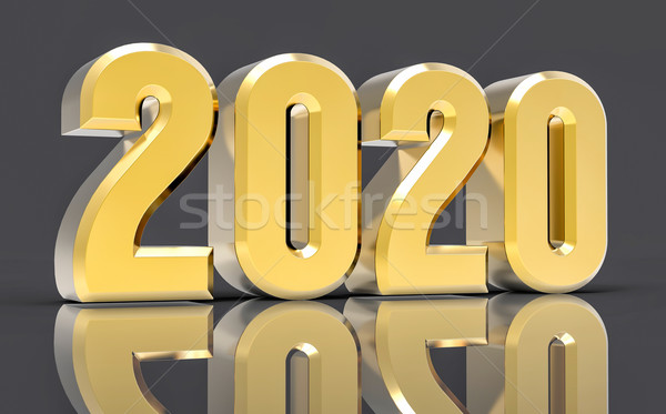 3D Isolated Gold 2020 Year Stock photo © IvanC7