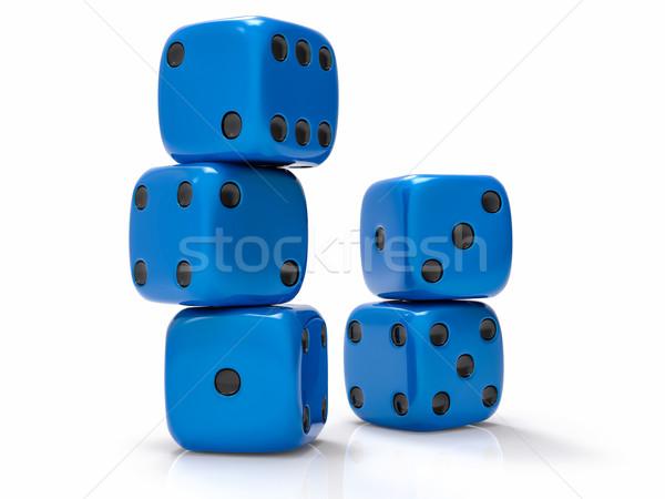 3D isolé groupe sin bleu noir Photo stock © IvanC7