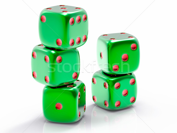 3D isolé groupe sin vert noir Photo stock © IvanC7