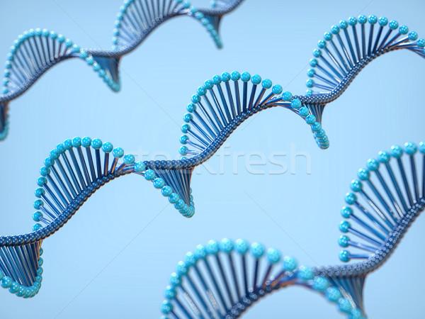3D ДНК спираль изолированный медицинской иллюстрация Сток-фото © IvanC7