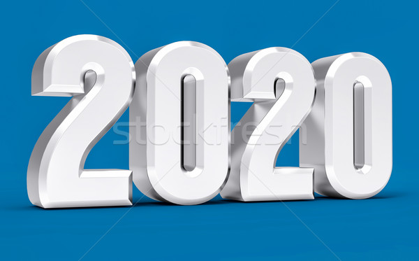3D Isolated Blue 2020 Year Stock photo © IvanC7