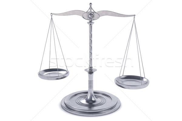 3D Isolated Balance or scale Background for measure. Justice, la Stock photo © IvanC7