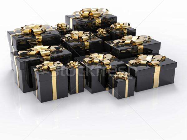 Cadeau groupe anniversaire fond Shopping Photo stock © IvanC7
