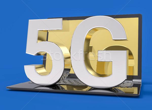 Technologie isolé icône rapide connexion internet Photo stock © IvanC7