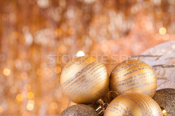 Ouro natal dourado luzes festa estrela Foto stock © IvicaNS