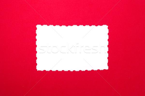 Vintage branco papel vermelho cópia espaço Foto stock © IvicaNS